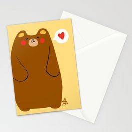 Bear heart for you Stationery Cards
