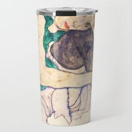 "Egon Schiele ""Seated Woman with Legs Drawn Up"" Travel Mug"