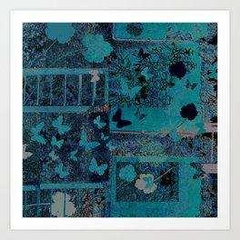 butterflies_I turquoise Art Print