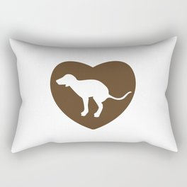Heart the Dog Rectangular Pillow