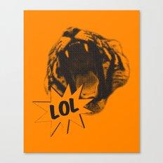 Jozzuv Lol (Orange) (Light on Dark Tee) Canvas Print