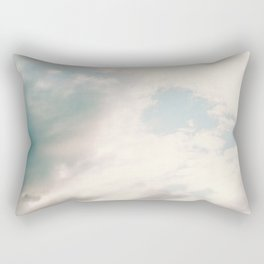 The Blues | Deep blue sky clouds photography Rectangular Pillow