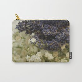 Lavender on gypsophila Carry-All Pouch