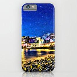 Dusk on Mykonos Beach iPhone Case