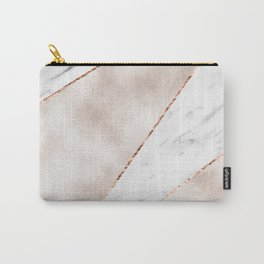 Spliced rose gold marble Carry-All Pouch