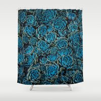 succulents Shower Curtains featuring Succulents by Kim Bajorek