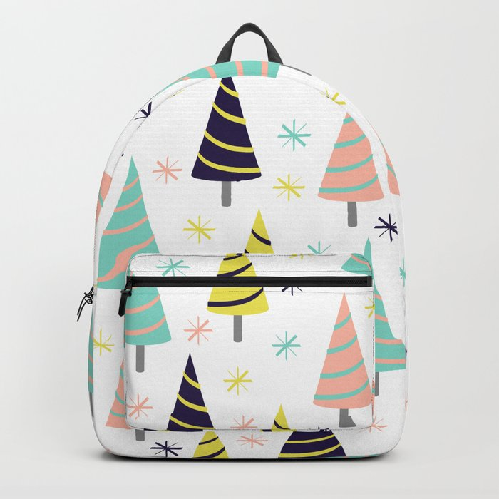 Colorful Christmas Trees Backpack