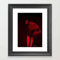 red 3 · the truth is dead Framed Art Print