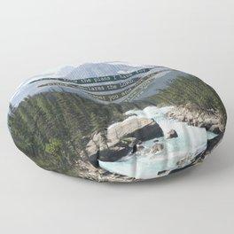 Jeremiah 29:11 Canadian Rockies Floor Pillow