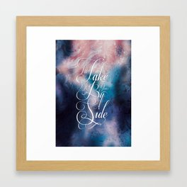 I'll take it by your side Framed Art Print