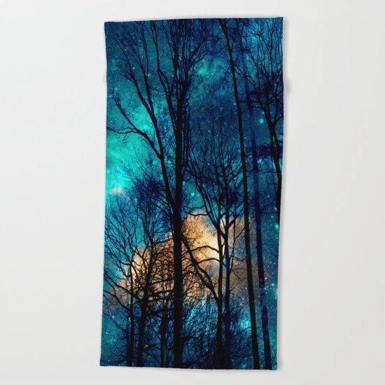 starry night Beach Towel