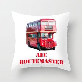 AEC Routemaster London Bus Throw Pillow