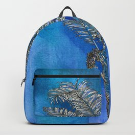 Blue Palm Backpack