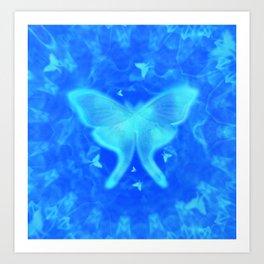 Luna Moth Cavern Art Print