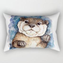 Watercolor Otter Rectangular Pillow
