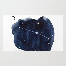 Zodiac Star Constellation - Aries Rug