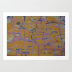 Pastel Map Art Print