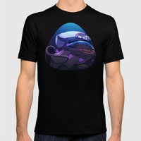 Spacing Out MEDIUM Black Mens Fitted Tee