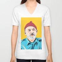 steve zissou V-neck T-shirts featuring Steve Zissou by Jeroen van de Ruit