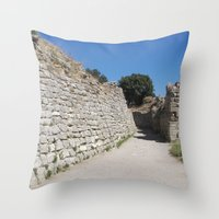 caleb troy Throw Pillows featuring Troy by Malcolm Snook