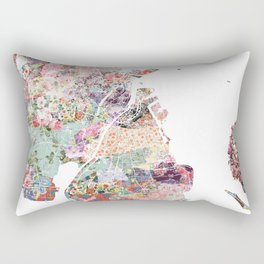 Augusta map Rectangular Pillow