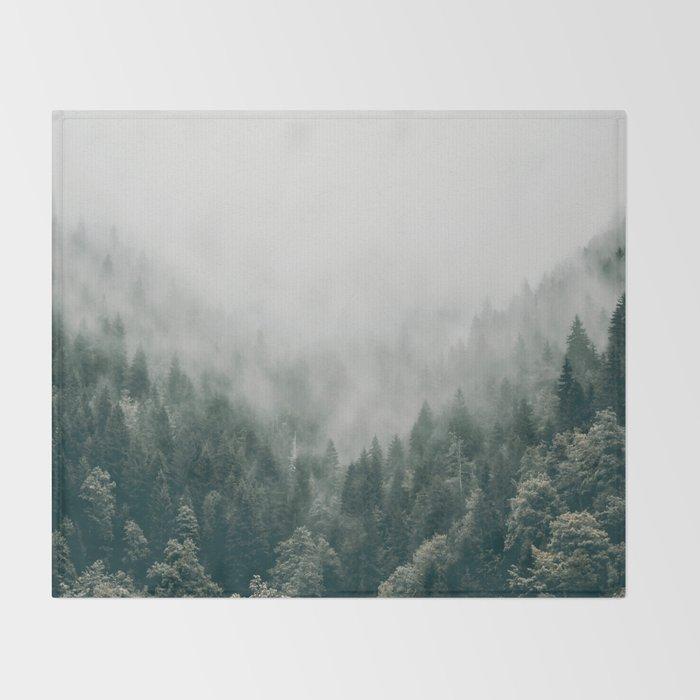 Foggy Forest 3 Throw Blanket