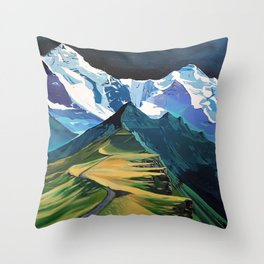 The Hike Throw Pillow