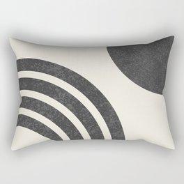 Mid Century Modern - Sun & Rainbow BW Rectangular Pillow