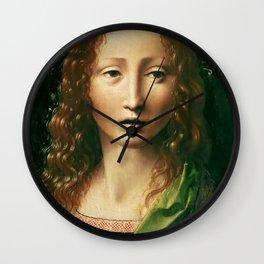 "Leonardo da Vinci ""Head of the Saviour"" Wall Clock"