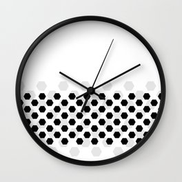 Backgroun of soocer,  football. Traditional sport texture of ball. Wall Clock