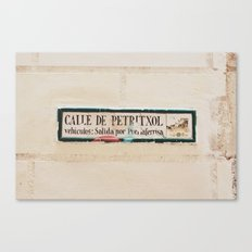 Carrer de petritxol Canvas Print