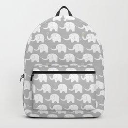 Elephant Parade on Grey Backpack