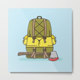 Backpack Metal Print