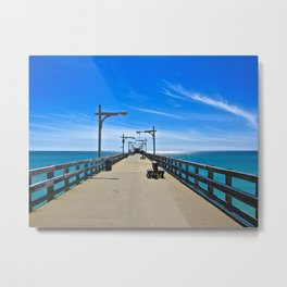Dock in the Gulf - The Peace Collection Metal Print