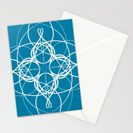 Blue White Swirl Stationery Cards