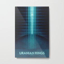Uranus - Uranian Rings Metal Print