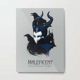 Maleficent art film inspired Metal Print