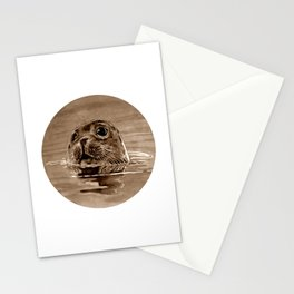 seal - sepia Stationery Cards