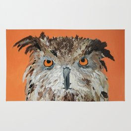 Wise Owl.  Hootie, Who, Who Rug