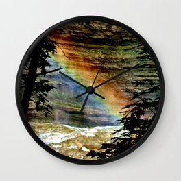 Rainbows on the Rocks Wall Clock