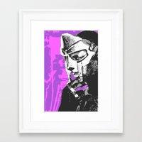 mf doom Framed Art Prints featuring MF DOOM by Blake Lee Ferguson