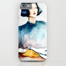 Girl with Crocodile Skull iPhone 6 Slim Case