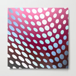 polka dots on a twisted sheet Metal Print
