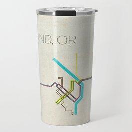 Minimal Portland, OR Metro Map Travel Mug