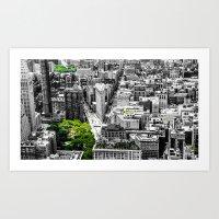 NYC - City Green Art Print