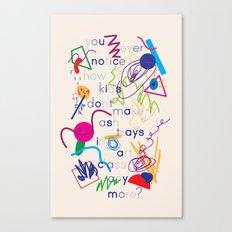 Haikuglyphics - A Brave New World Canvas Print