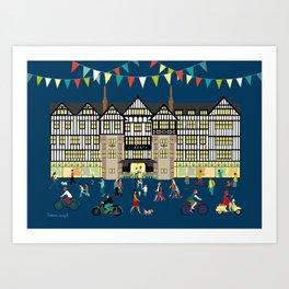 Art Print of Liberty of London Store - Night time Art Print