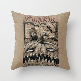 Pumpkin (Drawlloween 1/31) Throw Pillow