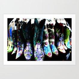 Boots Galore  Art Print