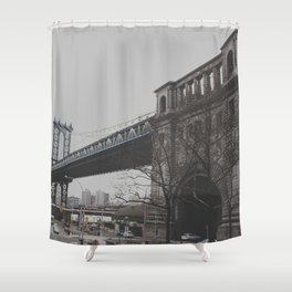 The Brooklyn Bridge Shower Curtain